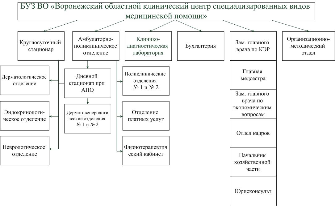 Схема структуры учреждения: